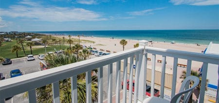 Seaside Amelia Inn Amelia Island FL Partial View Suite with Balcony Featured Image