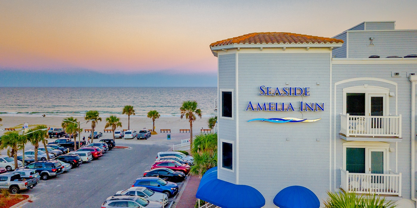 Beachfront Aerial | Seaside Amelia Inn | Amelia Island FL